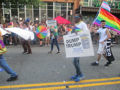 20180609 1846 - DC Pride - parade - Dump Trump - 09461879 (Clio CJS) Tags: 20180609 201806 2018 washington dc washingtondc street pstreetnw paradepridewashingtondccapitalpride2018 gayprideparade parade gaypride pride lgbt lgbtq marching dumptrumpsign sign dumptrump person people walking rainbowumbrella umbrella rainbow politics republican umbrellatwirling twirlingumbrella twirling flag prideflag transflag democraticpartymarchers marcher marchers democraticparty democrats