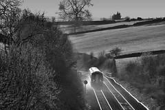 Kickin' It Up (whosoever2) Tags: uk united kingdom gb great britain england nikon d7100 train railway railroad march 2019 emt eastmidlands class158 158777 158812 chinley derbyshire peakdistrict highpeak hopevalley sun sunset