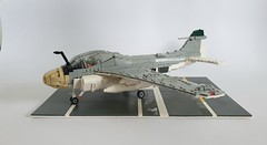 Lego A-6A Intruder (joopatkleppie) Tags: lego navy intruder a6 vietnam war military aircraft allweather moc build