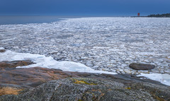 Puzzle in Spring on the Gulf of Bothnia. (teetaira) Tags: island finland sea winter ice sky rock