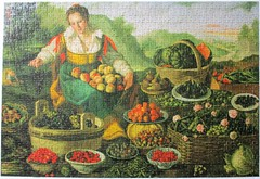 The Fruit Dealer [Explored] (pefkosmad) Tags: jigsaw puzzle hobby leisure pastime 1000pieces used secondhand complete thinpieces loosefit thegoldenseries vincenzocampi thefruitseller thefruitdealer lafruttivendola crownpuzzles explore explored