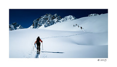 Track ! (pdel64@photography) Tags: ski skimo sport winter snow blue contamines