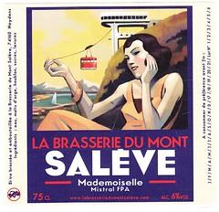 France - Brasserie du Mont Saleve (Neydens) (cigpack.at) Tags: brasseriedumontsaleve neydens frankreich france mademoisellemistralfpa bier beer brauerei brewery label etikett bierflasche bieretikett flaschenetikett