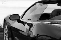 Corvette (Linda Allard) Tags: noiretblanc corvette auto