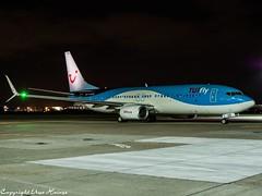 TUIfly D-ATUO HAJ at Night (U. Heinze) Tags: aircraft airlines airways airplane planespotting plane olympus 12100mm hannoverlangenhagenairporthaj haj eddv nightshot flugzeug