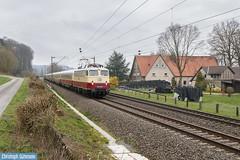 E10 1309 mit AKE Koblenz-Husum web (ChrisOs93) Tags: ake rheingold e10 1309 bügelfalte einheitslok tee eisenbahn zug sonderzug bahn railroad trein train osnabrück lokomotive locomotive lok stirpe ostercappeln