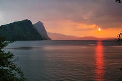 Lake Lucerne sunset (Tjaldur66) Tags: vitznau switzerland sunset evening eveninglight summerevening stormyweather lake lakeside lakelucerne