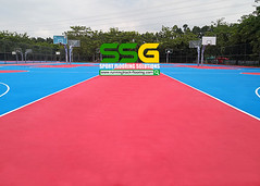silicon PU court_guangzhou_ssgsportsurface (3) (ssgsportsurface) Tags: ssgsportsurface sportflooring runningtrack basketballcourt sportcourt stadium construction epdm syntheticflooring siliconpu prefabricatedrunningtrack