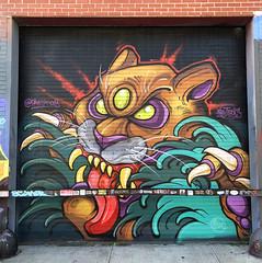 Third Eye Hunter by David Tevenal (wiredforlego) Tags: graffiti mural streetart urbanart aerosolart publicart shutter williamsburg brooklyn newyork nyc ny davidtevenal