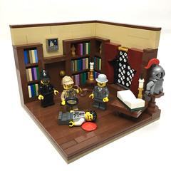 Murder in the Library (2 Much Caffeine) Tags: lego moc murder sherlockholmes library