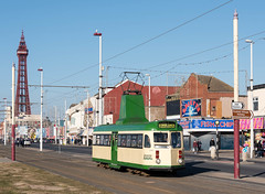 630 passes Princess St bound for Starr Gate (ralfedge) Tags: blackpool england unitedkingdom tower tram crich heritage brush