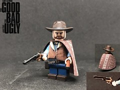 The Man with No Name (TheBrickBrewer) Tags: paints citadel minifig customs custom painted eastwood clint westerns spaghetti lego