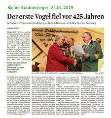 2019-01-24-Koelner-Stadt-Anzeiger--Festkommers (Sebastianer) Tags: artikel sebastianus patronatsfest flittard köln germany deutschland