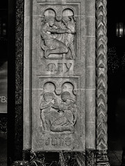 Ornamental--Midtown Building 2 (PAJ880) Tags: frieze ornament carvings months figures bw mono nyc manhattan midtown architecture