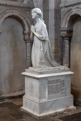 IMG_5214 Monument to Violet Vaughan Morgan 1919 in marble in North Transept (Beth Hartle Photographs2013) Tags: norfolk norwich cathedral anglican ancient historic benedictine monastery churchofengland statue 13thcentury