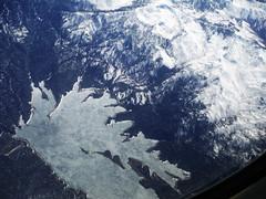 Deadwood Peace (Sotosoroto) Tags: aerial mountains snow ice lake deadwoodreservoir idaho valleycounty salmonrivermountains
