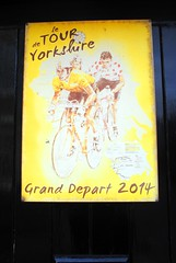 Grand Depart 2014 (zawtowers) Tags: hawes north yorkshire upper wensleydale dales england countryside rural market town famous cheese saturday 16th february 2019 dry sunny bright grand depart 2014 tour de france cote buttertubs jens voigt marcel kittel vincenzo nibali commemorative plaque yellow vintage sign