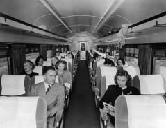 CB&Q Coach Interior (Chuck Zeiler 52) Tags: cbq coach interior burlington railroad budd passenger car chz people