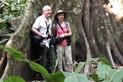 Costa Rica - Robert and Sue with tree trunk (Rez Mole) Tags: costa rica