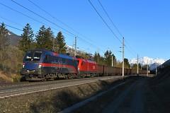 1116 195 + 1116 176, LGAG 48441. Mühldorf-Möllbrücke (M. Kolenig) Tags: 1116 tauernbahn berg nightjet