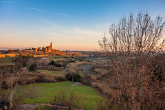 Tuscania, Central Italy (Claudio_R_1973) Tags: tuscania centralitaly lazio monument historical park building landscape country countryside hills italia italy sunset goldenhour stillness outdoor peaceful nature