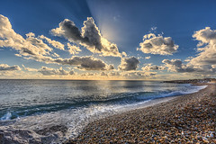 Cotton wool (Through Bri`s Lens) Tags: sussex beach worthing clouds cloudy shingle pebbles rocks canon5dmk3 canon1635f4 brianspicer
