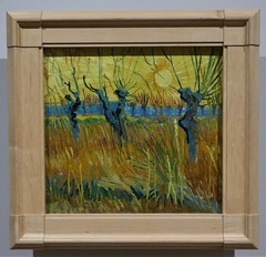 Vincent van Gogh, Pollarded Willows at sunset, Arles, 1888 (jacquemart) Tags: exhibition tatebritain vincentvangogh pollardedwillowsatsunset arles 1888