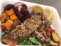 (cafe_services_inc) Tags: cafeservicesinc bbp corporatedining indigenousamericaningredients squash beets mushroom avocado lemon plated salmon