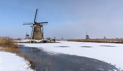 windmills of kinderdijk (jolanda den hartog) Tags: alblasserwaard ijs kinderdijk sneeuw winter2019 nikond810 worldheritage werelderfgoed jolandadenhartog sigma1835 snow windmills