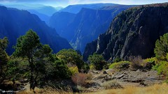 Tomichi Point Overlook, South Rim Road, Black Canyon of the Gunnison National Park, Montrose, Colorado, USA (Black Diamond Images) Tags: blackcanyonofthegunnisonnationalpark montrose colorado usa blackcanyon gunnisonnationalpark coloradolandscapes blackcanyonnationalpark blackcanyonofthegunnison landscapes westernusatrip2018 2018 panorama msice msicepanorama microsofticepanorama nationalparkservice precipice cliffs pegmatite precambriangneiss schistrock precambrian gneiss schist rock canond60 sigma1770 1770 tomichipointoverlook tomichipoint southrimrd southrimroad hwy347 landscapepro landscapepro2