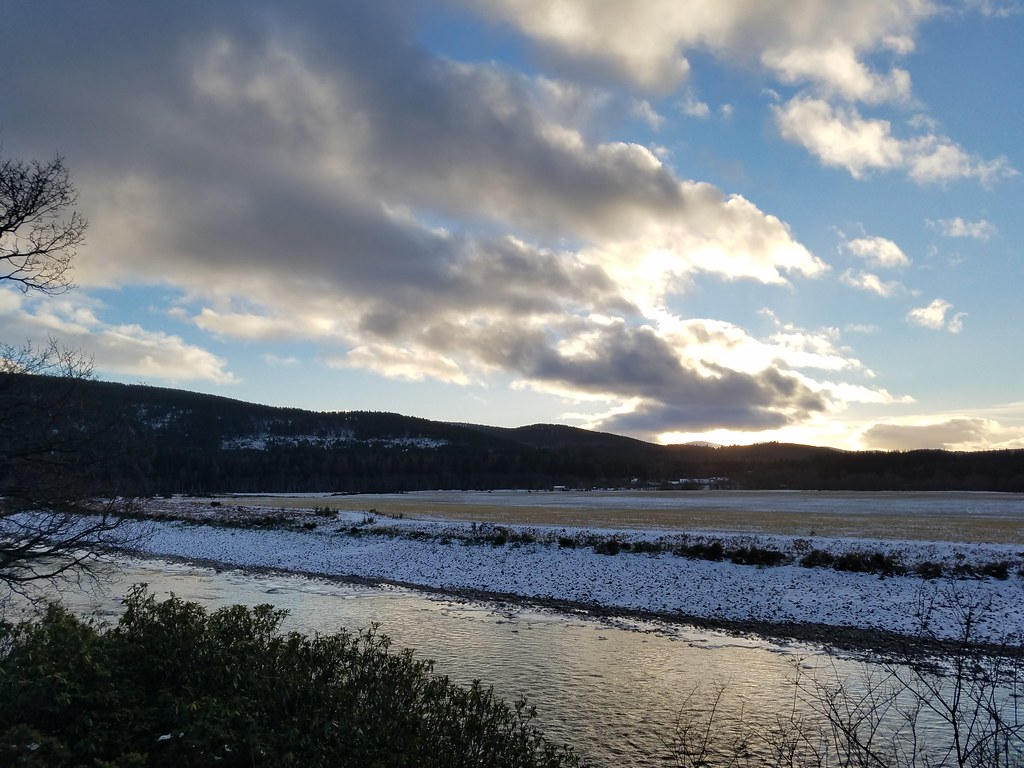 River Dee Ice Blue Snow