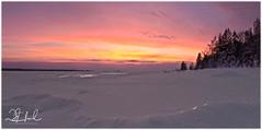 Sunset on Ice (D J England) Tags: djenglandphotography douglasjengland sunset brucepeninsula winter haybay dje ontario southernontario djengland canada tobermory snow