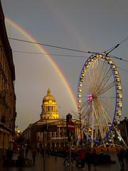 Nottingham rainbow 01 (Andy Sut) Tags: nottingham rainbow oldmarketsquare eye bigwheel nottinghameye england uk urban city town