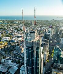 Australia 101 (smjbk) Tags: melbourne australia australia101 construction skyscraper towercrane