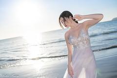 DSC_6136 (Robin Huang 35) Tags: 謝立琪 kiki 沙巴 sabah 馬來西亞 malaysia 亞庇 丹絨亞路 海灘 沙灘 海岸 海邊 夕陽 壓光 海邊壓光 夕陽壓光 裸紗 遊拍 人像 portrait lady girl nikon d850 亞庇縣 my beach