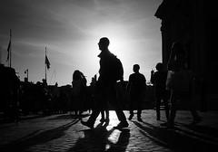 sunset (Erwin Vindl) Tags: sunset streetphotography streettogs candid blackandwhite monochrome roma erwinvindl olympusomd em10markii