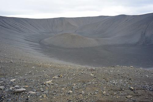Inside Hverfjall crater, Iceland