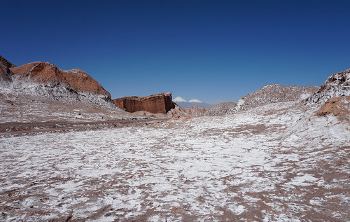 The Valley of the Moon (Valle de la Luna) at 2,520 meters (8,267.71 ft) above sea level, San Pedro de Atacama, the Atacama Desert, Chile.