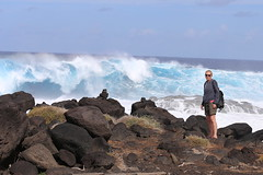 Be careful there's a wave behind you! (Hilltopender) Tags: roughsea waves lanzarote