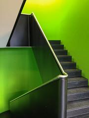 It's green (Elbmaedchen) Tags: treppenhaus stairwell grün green escaleras escaliers interior upanddownstairs steps stufen modern