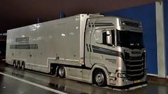 NL - Benedictra Scania NG S450 HL (BonsaiTruck) Tags: benedictra scania s450 nacht night nuit lkw lastwagen lastzug truck trucks lorry lorries camion caminhoes