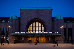 railway station (Antti Tassberg) Tags: 24mmts arkkitehtuuri yö rakennus kevät kaupunki helsinki suomi rautatieasema 24mm architecture asema building city cityscape dark finland juna lens lowlight night nightscape prime railway scandinavia spring station tiltshift train urban