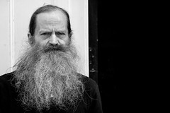 everything's a dollar in this box (Gerrit-Jan Visser) Tags: amsterdam beard blackandwhite bnw man portrait stare streetphotograaphy
