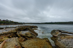 Looking the other way (JustAddVignette) Tags: australia cloudy cloudysunrise firstlight landscapes malabar newsouthwales ocean overcast rain rockpool rocks seascape seawater sky southeasternsuburbs sydney water waves