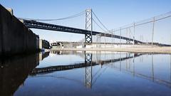 bay bridge (eb78) Tags: ca california sf sanfrancisco embarcadero reflection sanfranciscobaybridge explore