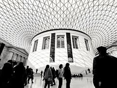 (sara.scaglia) Tags: london uk europe britishmuseum light blackandwhite greatcourt museum people lightandshadows