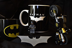 Coffee Mug (roanfourie) Tags: flickrlounge saturdaytheme mugscupsordrinkingglasses batman cup black yellow nikon d3400 nikkor 35mm f18 g dx raw gimp february 2019