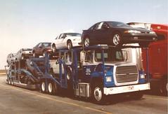 "Ford L9000: ""IDSC"" #72 (PAcarhauler) Tags: carcarrier semi truck trailer tractor gmc ford"