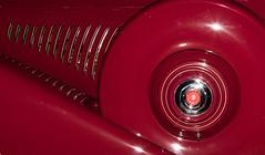 1935 Duesenberg J-310 Sedan Spare and Exhaust Vents (ksblack99) Tags: duesenberg 1935 j310 sedan automobile classiccar gilmorecarmuseum hickorycorners michigan sparetire exhaustvent