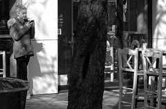 Sofia '19 (faun070) Tags: sofia bulgaria street people peoplestanding woman blackandwhite
